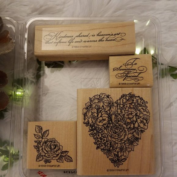 Vtg. Stampin Up! KINDNESS SHARED Scrapbook Stamps